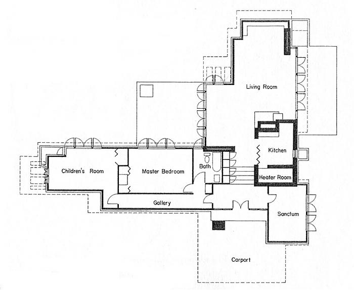 Frank Lloyd Wright Floor Plans Frank Lloyd Wright House Floor