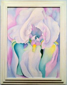 Georgia O'Keeffe's White Iris, 1930, Oil on Canvas. At the VMFA.