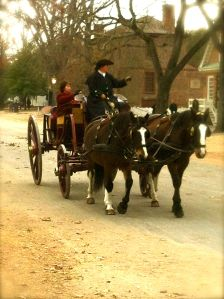 Treat yourself to a carriage ride down the 1 mile long Duke of Gloucester Street from the Capitol to Merchant Square.