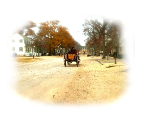 carriage riding down the road