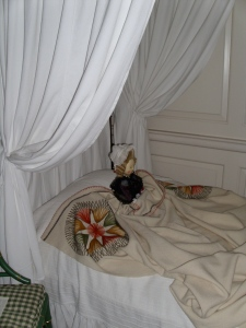 One of the beds in the Palace.