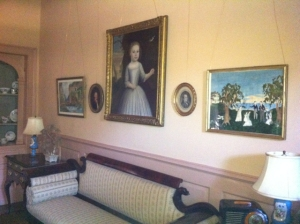 The drawing room at Bassett Hall.