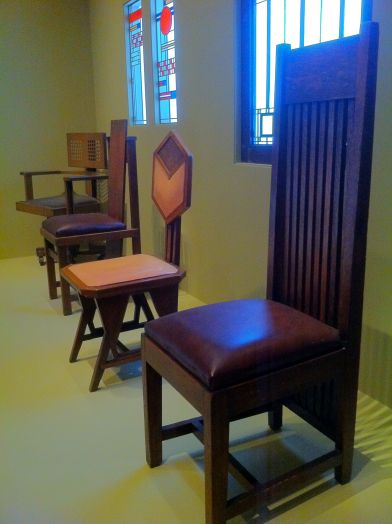 Frank Lloyd Wright Chairs and windows