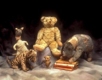 You can see just how small Piglet is compared to the other stuffed animals in this photo. [Image courtesy: The New York Public Library