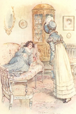 Illustration from an early edition of Persuasion.