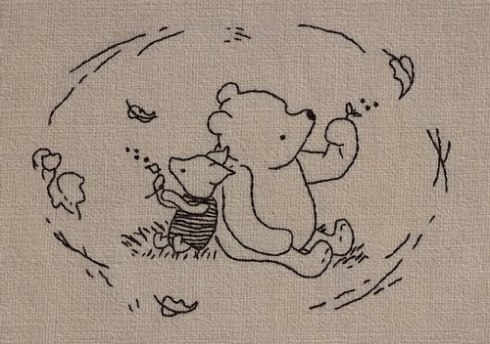 Piglet and Pooh think about fall.