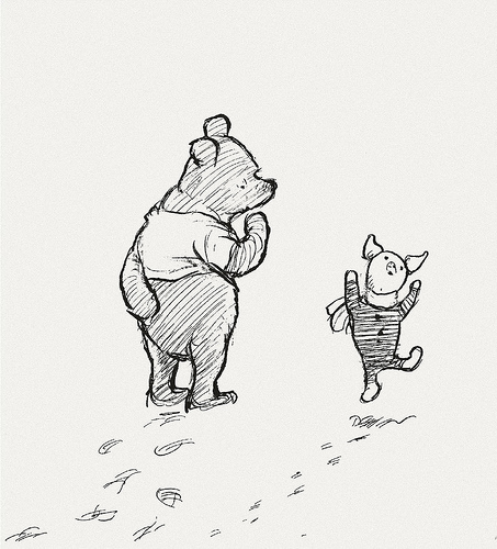 One more image... Piglet dancing with delight. Keep that image in your heart today, OK?