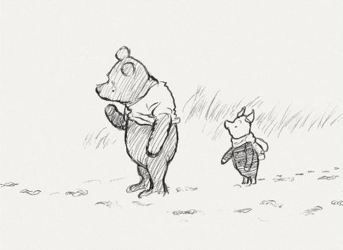 Pooh and Piglet on an adventure