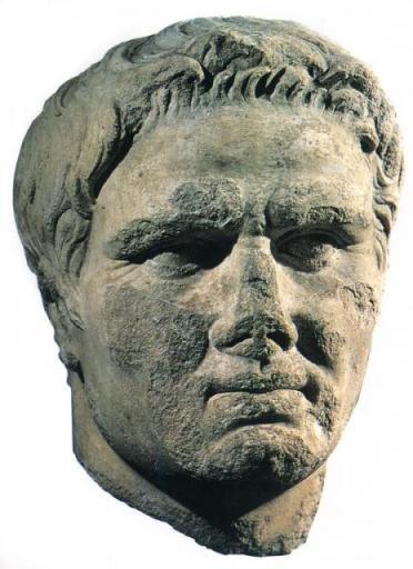 Mark Antony. Bust. Badly damaged. 1st century BC.  [www.laits.utexas.edu]