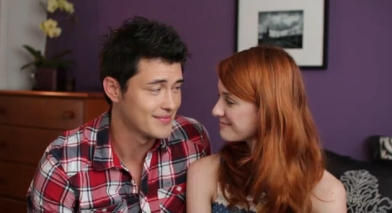 The adorable Cristopher Sean and Laura Spencer as Bing Lee and Jane in the Lizzie Bennet Diaries