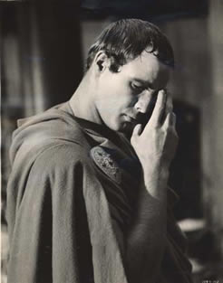 Marlin Brando as Marc Antony in the 1953 version of Julius Caesar