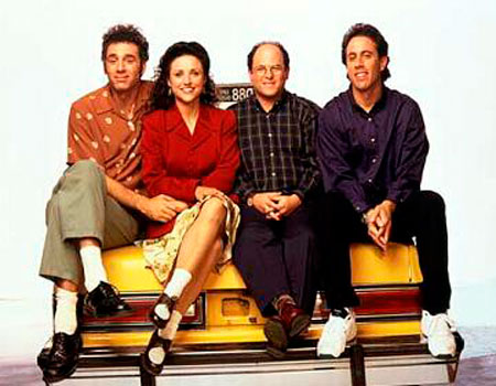 The Seinfeld gang. (Image courtesy NBC.)
