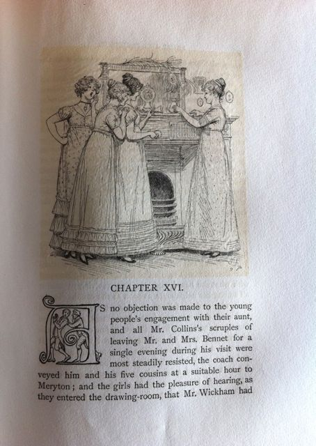 An early illustrated edition of Pride and Prejudice from the Goucher Library.