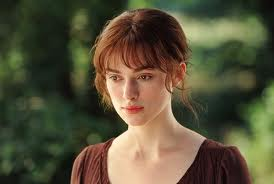 Keira Knightly as Lizzie in the 2005 Movie