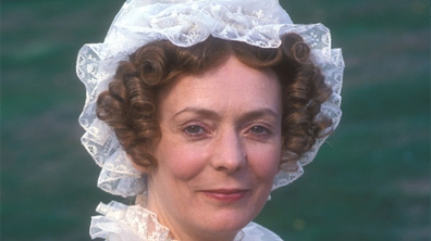 Alison Steadman is Mrs. Bennet  in the 1995 series [Image courtesy BBC Home.]