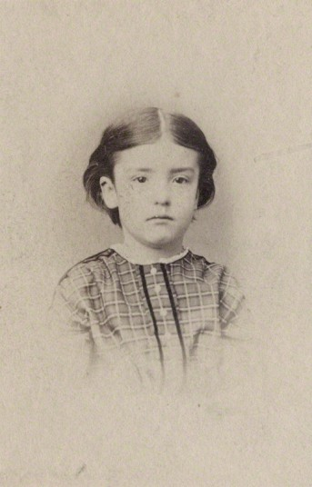 M. Carey Thomas as a child [Image courtesy National Portrait Gallery]