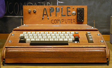 An original Apple I Computer. [Image courtesy:  Wikimedia Commons]