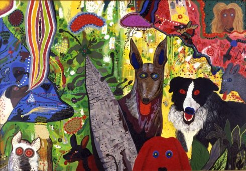 Dogs were an important subject in De Forest's work. [Image courtesy SFMOMA]