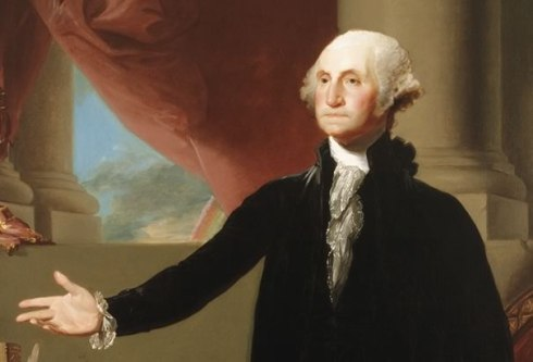 Gilbert Stuart was another artist who was inspired to paint Washington. [Image courtesy: The Library of Congress]