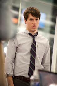 John Gallagher Jr. plays good guy Jim Harper on HBO's Newsroom. [Image courtesy HBO]