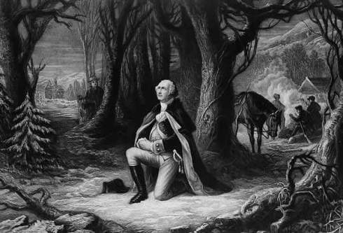 Washington at Valley Forge. [Image courtesy: the Library of Congress]
