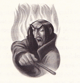 The Mary Grandpre illustration of Half-Blood Prince.