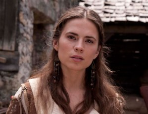 Hayley Atwell as Aliena in the miniseries based on the book. [Image courtesy: Ken Follett.com]