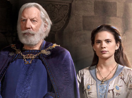 Donald Southerland as the Earl and Hayley Atwell as Aliena in the miniseries [Image courtesy: TV Somthing]