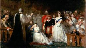 The Marriage of the Princess Royal (sketch) a painting commissioned by Queen Victoria to commemorate the marriage of her daughter. (Aberdeen Art Gallery) [bbc.co.uk]