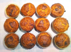 all 12 muffins done