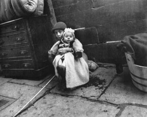 """""""Minding Baby"""" [Image Courtesy: The Old Photo Album]"""