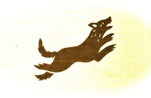 Direwolf illustration from the book. Teh Direwolf is the symbol for House Stark.