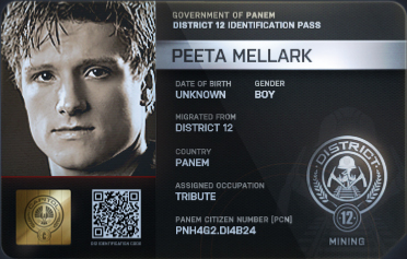 ID Card from the Hunger Games movie [Image couresy: Wikia.com]