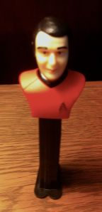 Pez Mr. Scott is ready to beam aboard from my bookshelf.