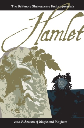 Poster for Hamlet courtesy foxpop communications.