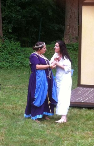 Kelly Dowling (Gerturde) and Ann Turiano (Ophelia)
