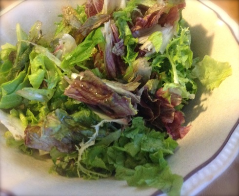 The mixed Greens are cleaned and prepped.