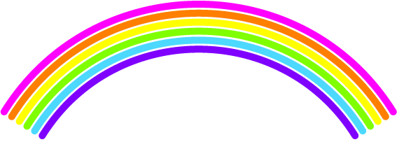 July creative challenge day 5 rainbow ritalovestowrite for How to make a rainbow arch