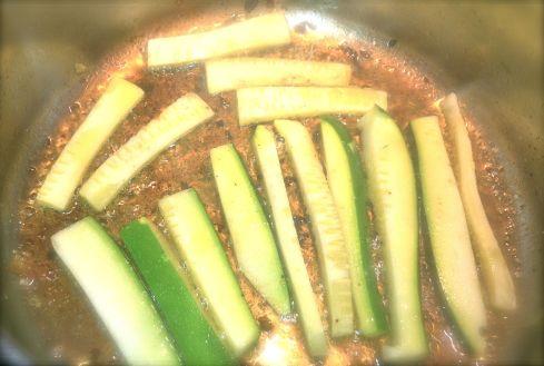 zucchini sauteing