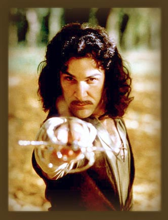"""Hello..."" Mandy Patinkin brilliantly plays Inigo Montoya in the 1987 film version of The Princess Bride"