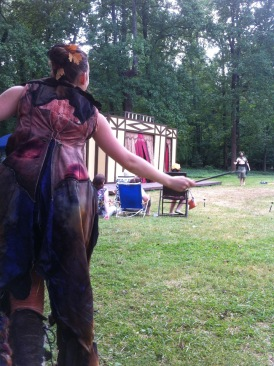 Puck (Jenna K. Rossman) and Oberon (Joel Ottenheimer) control the Meadow -- er -- fairy kingdom.