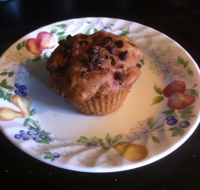 Apple Butter Chocolate Chip Muffin