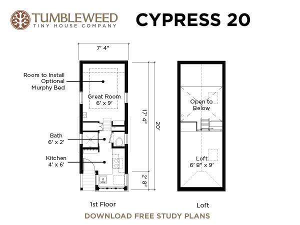 Tumbleweed 39 s cypress 20 39 s floor plan for Tumbleweed floor plans