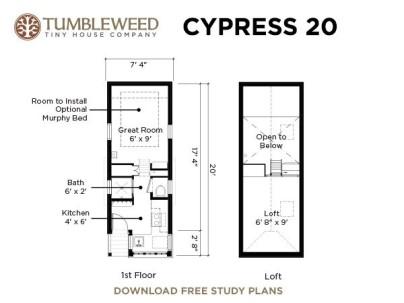 Tumbleweed's Cypress 20's floor plan