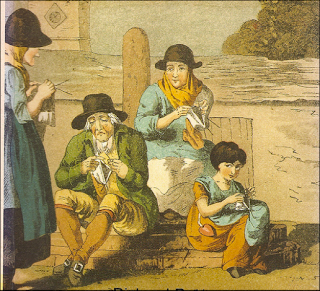 Knitting was an all age activity, and was done by both men and women.