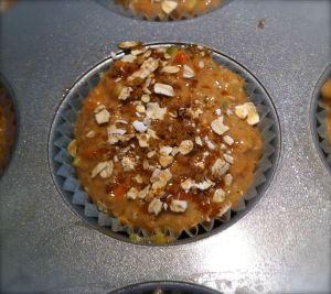 Muffin ready to go into the oven