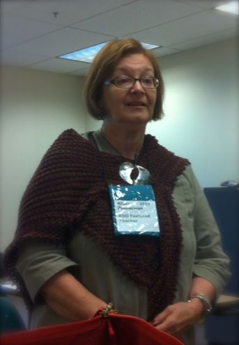 The amazing Kathy Zimmerman taught our Aran Knitting class on Saturday morning.