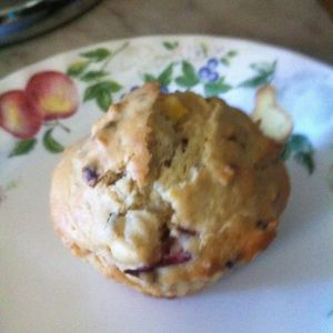 Nectarine Plum Granola muffin