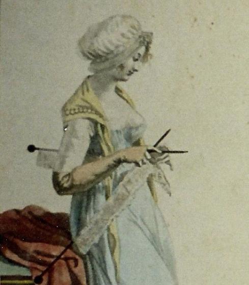 lady knitting lace