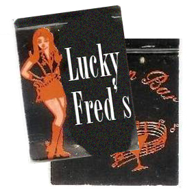 Lucky Fred's matchbook